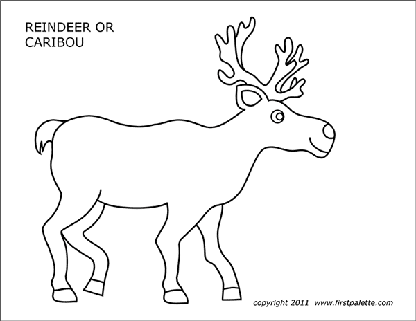 Printable Caribou Coloring Page