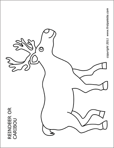 Printable Caribou or Reindeer