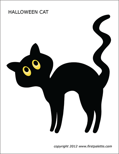 Printable Halloween Cat
