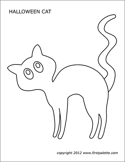 Printable Large Halloween Cat