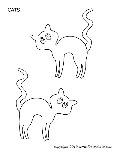 Halloween Cats Free Printable Templates Coloring Pages