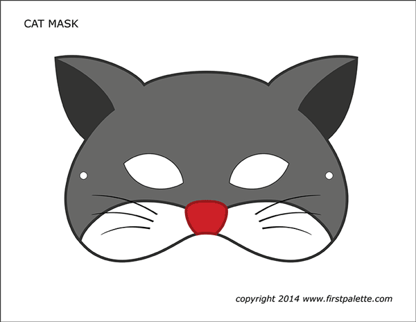 Printable Colored Cat Mask 1