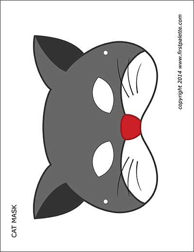 Printable Cat Masks