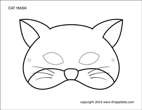 It's just an image of Eloquent Cat Mask Printable