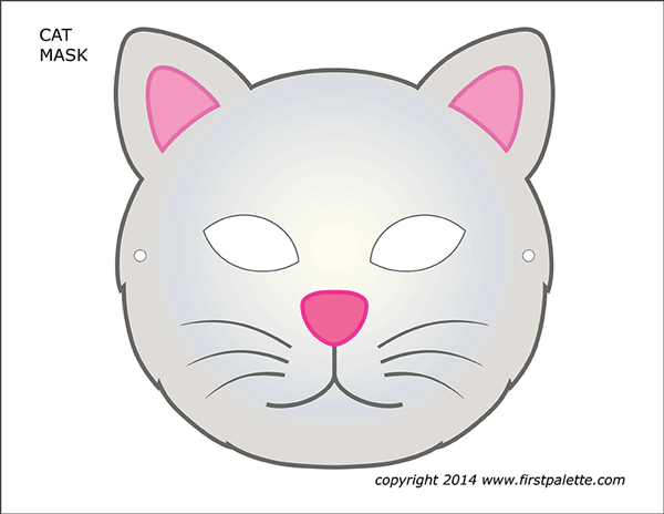 Printable Colored Cat Mask 2