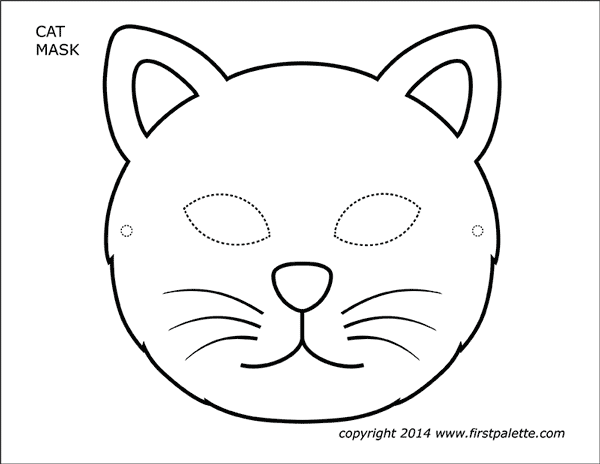 Cat Masks Free Printable Templates