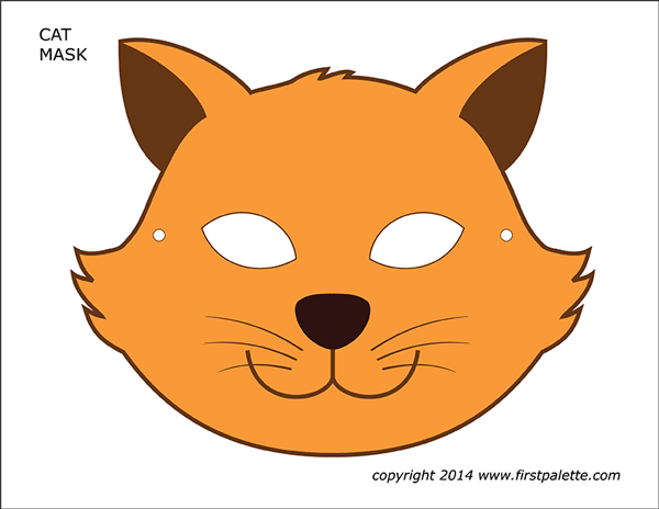 Printable Colored Cat Mask 3