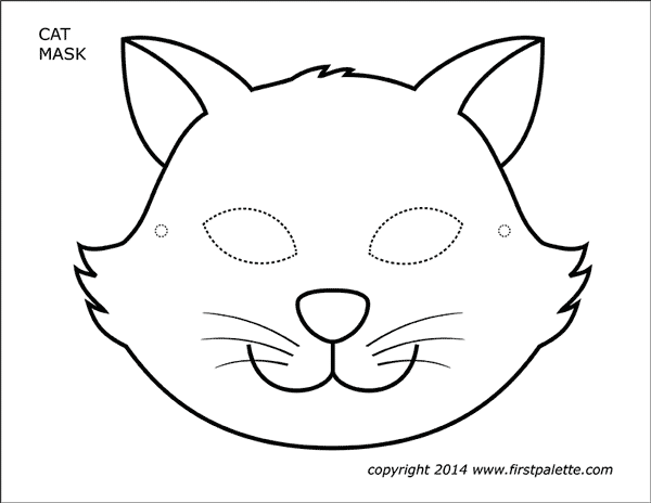 This is a photo of Striking Cat Mask Printable