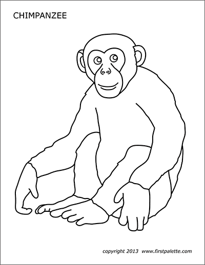 Printable Chimpanzee