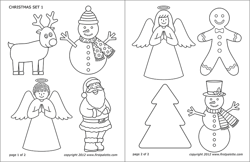 photo about Printable Christmas Templates identify Xmas Sets Totally free Printable Templates Coloring Web pages