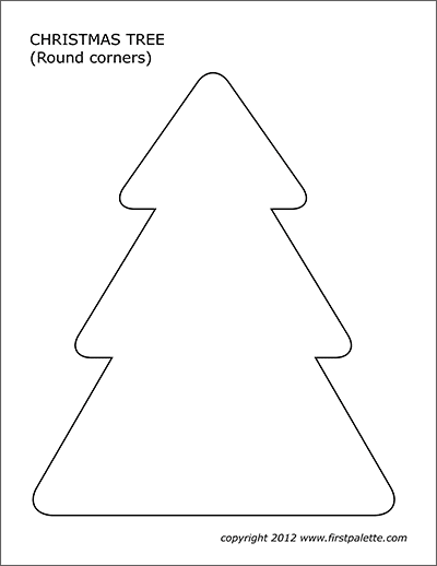photograph relating to Printable Christmas Tree Template referred to as Xmas Tree Templates Free of charge Printable Templates