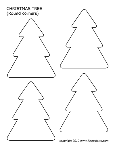 photograph relating to Christmas Cutouts Printable identify Xmas Tree Ornaments No cost Printable Templates