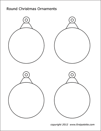 picture relating to Printable Christmas Decorations Cutouts identified as Xmas Tree Ornaments No cost Printable Templates
