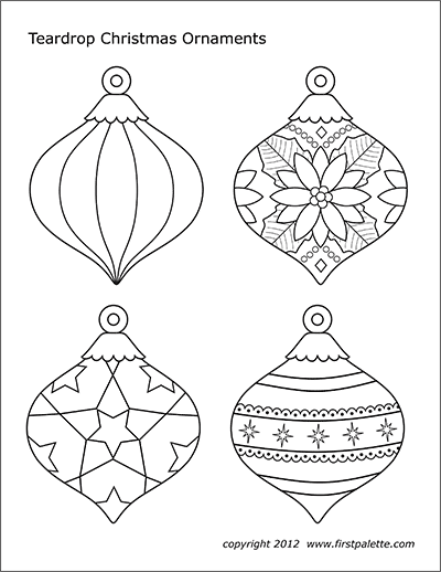 Christmas Tree Ornaments Free Printable Templates