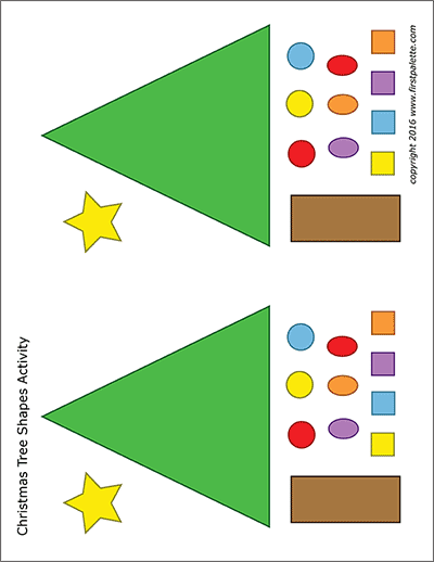 Christmas Tree Shapes Activity Template