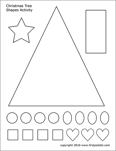 Printable Christmas Tree Shapes Set