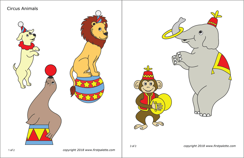 Circus Animals | Free Printable Templates & Coloring Pages ...
