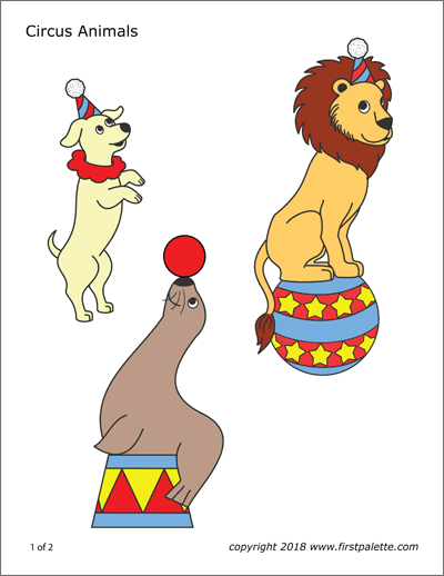 Printable Circus Animals