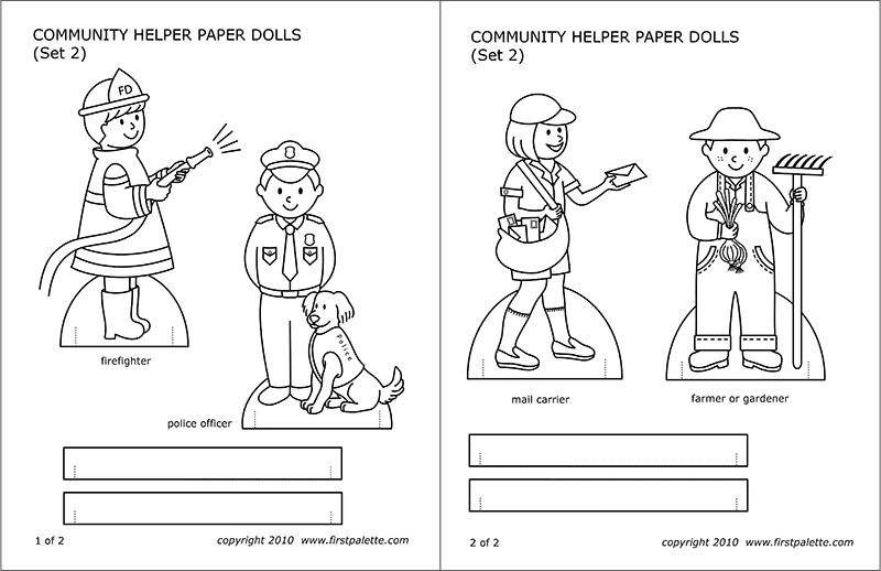 STEP 1 Community Helper Paper Dolls