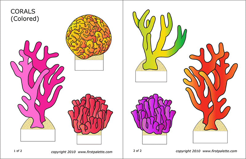 Printable Colored Corals