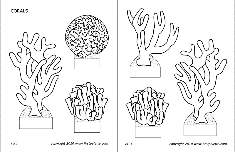 picture about Free Printable Black and White Images identify Corals No cost Printable Templates Coloring Webpages
