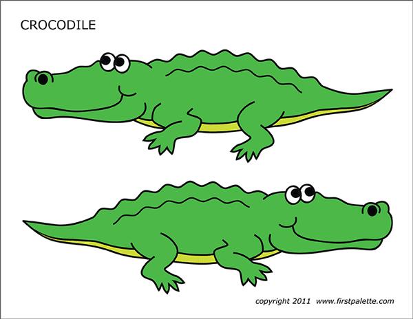Crocodile Free Printable Templates