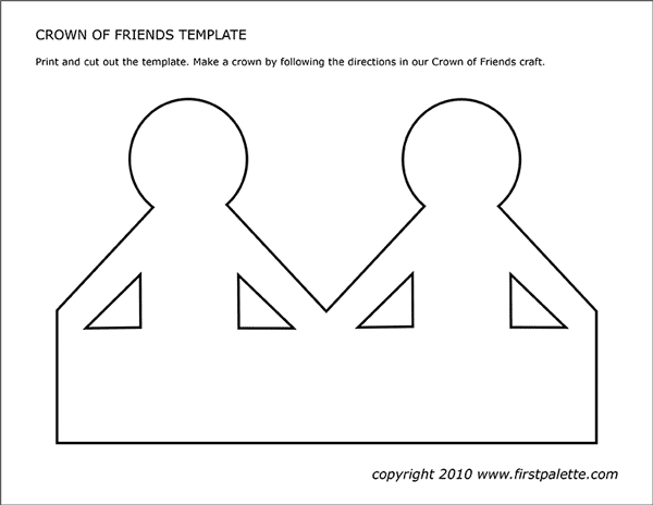 Printable Crown of Friends Template