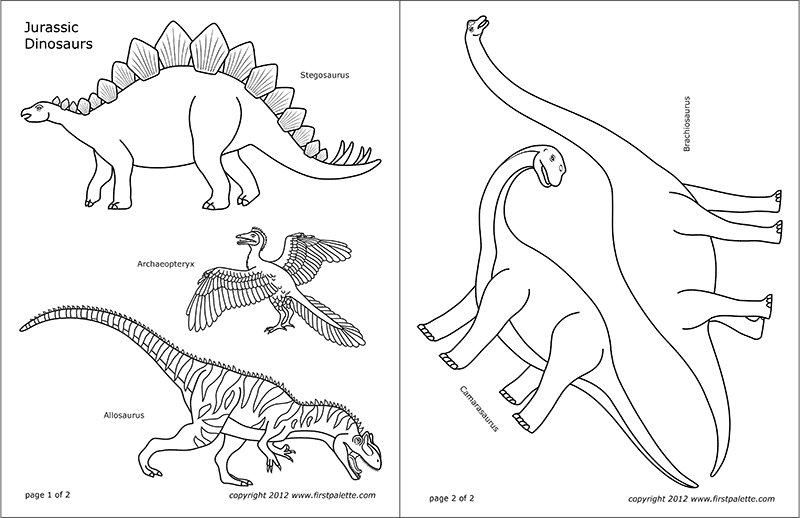 photo regarding Dinosaur Outline Printable referred to as Juric Dinosaurs Free of charge Printable Templates Coloring