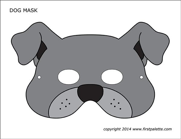 Candid image pertaining to dog mask printable
