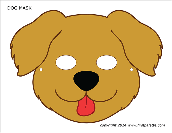 Simplicity image for dog mask printable