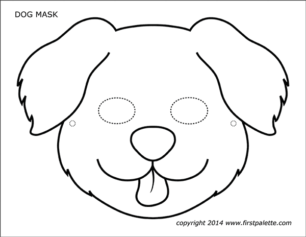 graphic regarding Dog Template Printable called Canine or Doggy Masks Cost-free Printable Templates Coloring