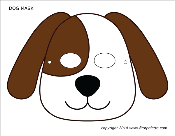 graphic relating to Dog Template Printable referred to as Puppy or Canine Masks Free of charge Printable Templates Coloring
