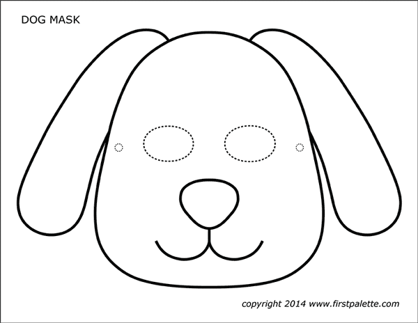Dog or Puppy Masks | Free Printable Templates & Coloring