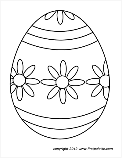 photograph regarding Easter Egg Template Printable named Easter Eggs No cost Printable Templates Coloring Internet pages