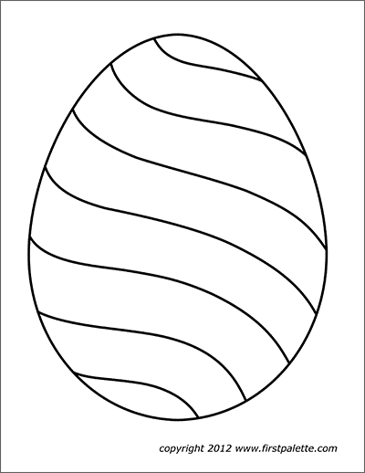 photograph about Egg Printable known as Easter Eggs Totally free Printable Templates Coloring Web pages
