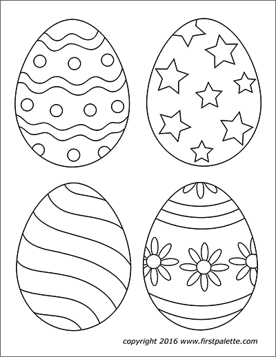 picture regarding Printable Easter Decorations identified as Easter Eggs Cost-free Printable Templates Coloring Webpages