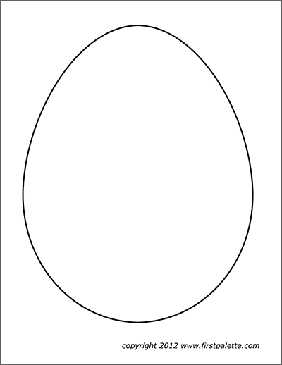 Easter Eggs Free Printable Templates & Coloring Pages FirstPalette.com