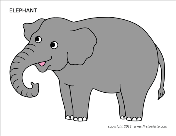 image about Printable Elephant Pictures referred to as Elephant Free of charge Printable Templates Coloring Webpages