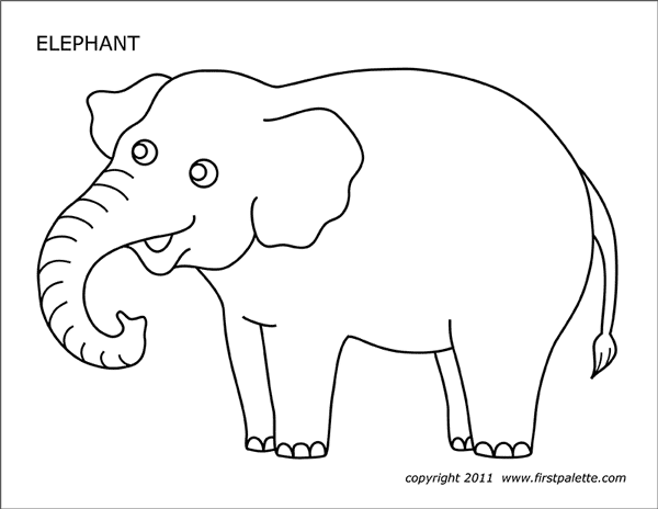 picture regarding Printable Elephant Pictures identified as Elephant Absolutely free Printable Templates Coloring Web pages