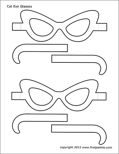 Printable Cat Eye or Retro Eyeglasses