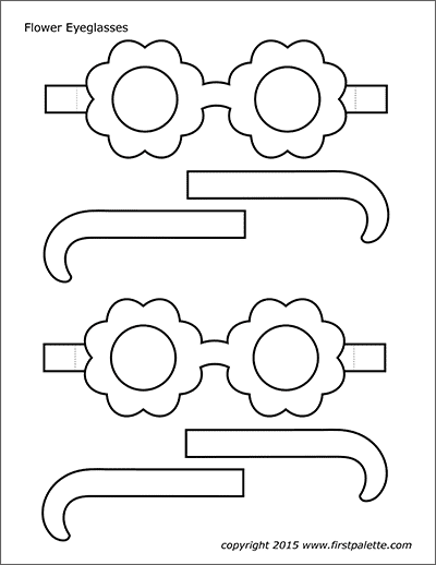 Printable Flower Eyeglasses