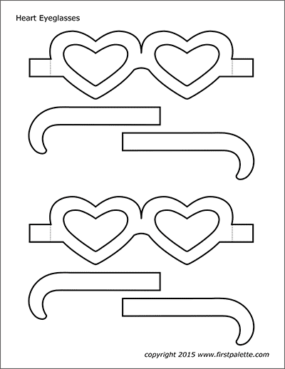 Printable Heart Eyeglasses