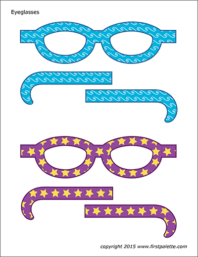 Printable Colored Eyeglasses - Set 3