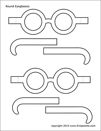 Printable Round Eyeglasses