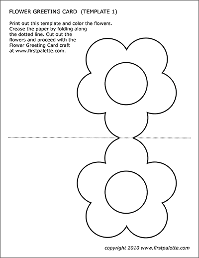 graphic regarding Printable Easter Cards to Color titled Flower Greeting Card Templates Absolutely free Printable Templates