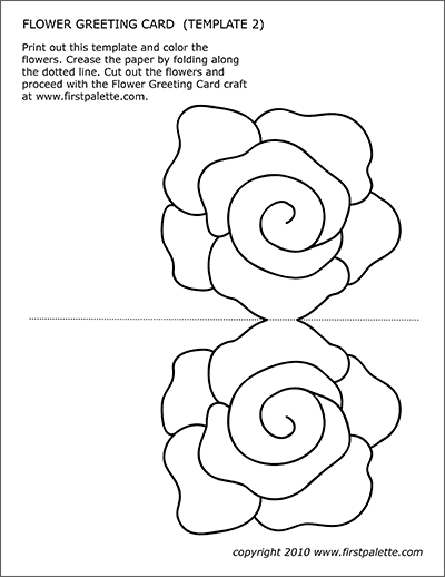 Flower Greeting Card Templates