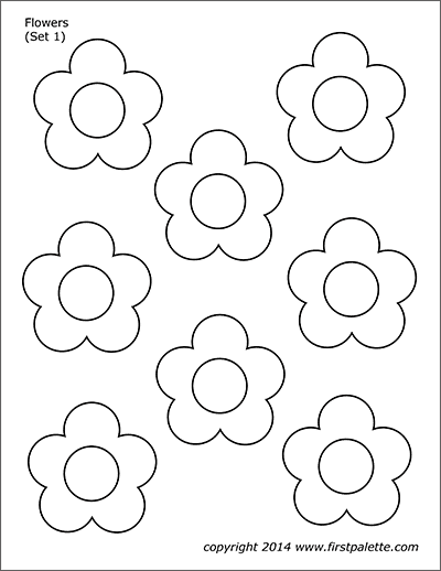 picture about Flower Stencil Printable titled Bouquets Absolutely free Printable Templates Coloring Web pages