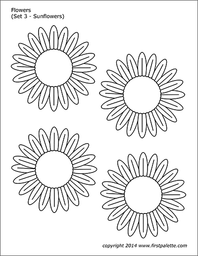 picture about Printable Pictures of Sunflowers titled Bouquets Totally free Printable Templates Coloring Webpages