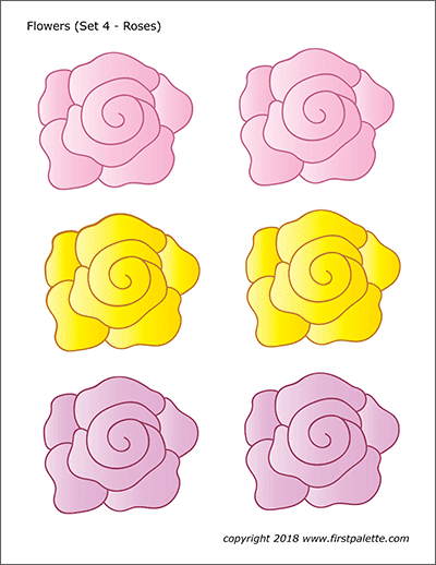 Sweet image intended for printable colored flowers