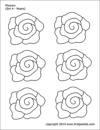 Printable Flower Set 4 - Roses